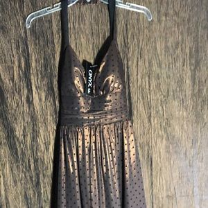 Onyx fashion dress black/copper hints Size 4